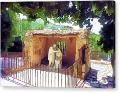 Do-00500 St Rafqa Statue Acrylic Print by Digital Oil