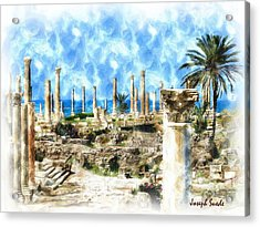 Do-00550 Ruins And Columns Acrylic Print