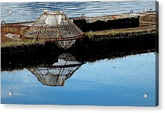 Do Not Stack Pots Here Acrylic Print by Susan Stephenson