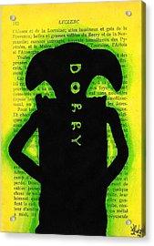 Dobby Silhouette Acrylic Print by Jera Sky