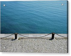 Dock Chain By Pavement Acrylic Print by Photography by Kévin Niglaut