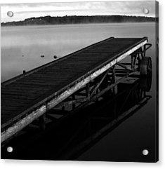 Dock Acrylic Print by Jerry Cordeiro