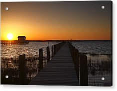 Dock On The Bay Acrylic Print by Steven Ainsworth