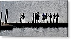 Dock Party Acrylic Print by Lisa Plymell