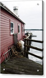 Dock Side Acrylic Print
