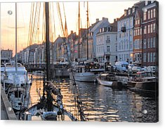 Docked For Dinner Acrylic Print by