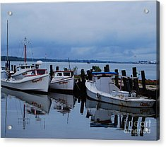 Acrylic Print featuring the photograph Docked by Linda Mesibov