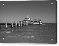 Docking For A Moment Acrylic Print by Betsy Knapp