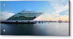 Dockland Evening Acrylic Print by Marc Huebner