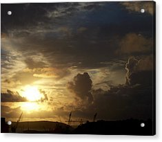 Docks 8am Acrylic Print by Matt Swann