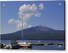 Docks At Diamond Lake Acrylic Print by Mick Anderson