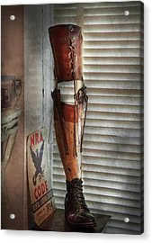Doctor - A Leg Up In The Competition Acrylic Print by Mike Savad
