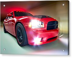 Acrylic Print featuring the photograph Dodge Charger by Anna Rumiantseva