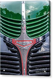 Dodge Grill Acrylic Print by Ursula Lawrence