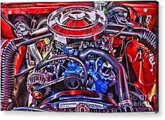 Dodge Motor Hdr Acrylic Print by Randy Harris