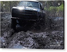 Dodge Ramcharger In Local Mud Acrylic Print by Lynda Dawson-Youngclaus