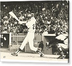 Dodger Wes Parker Batting At Dodger Stadium Acrylic Print