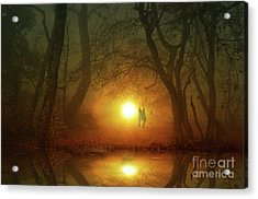 Acrylic Print featuring the photograph Dog At Sunset by Bruno Santoro