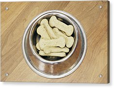 Dog Biscuits Acrylic Print by Johnny Greig