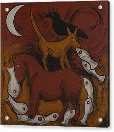 Dog Dream Acrylic Print by Sophy White