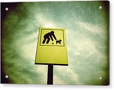 Dog Fouling Sign Acrylic Print by Kevin Curtis