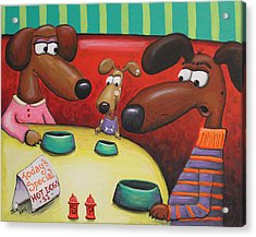 Doggie Diner Acrylic Print by Jennifer Alvarez