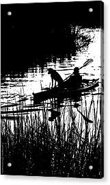 Dog's Best Friend  Acrylic Print by Gib LaStrapes