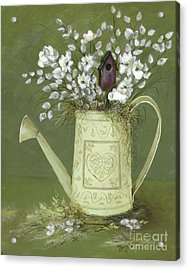Acrylic Print featuring the painting Dogwood Cuttings  by Nancy Patterson