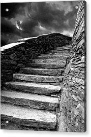 Dolbadarn Castle Steps Acrylic Print by Duncan Rowe