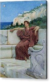 Dolce Far Niente Acrylic Print by Sir Lawrence Alma-Tadema
