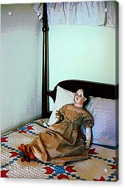 Doll On Four Poster Bed Acrylic Print by Susan Savad