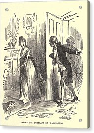 Dolley Madison Saving The Portrait Acrylic Print by Everett