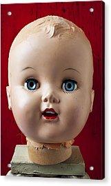 Dolls Haed Acrylic Print by Garry Gay
