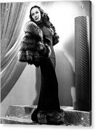 Dolores Del Rio, 1937 Acrylic Print by Everett