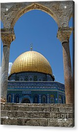 Acrylic Print featuring the photograph Dome Of The Rock  by Eva Kaufman