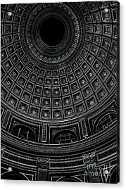 Acrylic Print featuring the photograph Dome. Vatican. Black by Tanya  Searcy