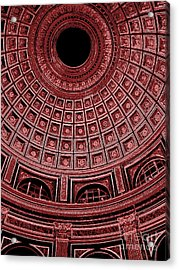 Acrylic Print featuring the photograph Dome. Vatican. Red by Tanya  Searcy