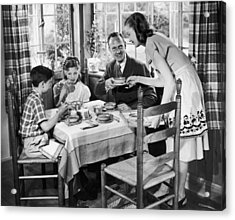 Domestic Bliss Acrylic Print by A E French