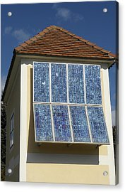 Domestic Solar Panel Acrylic Print by Friedrich Saurer