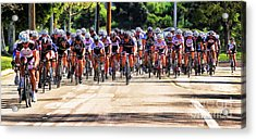 Dominguez Hill Cycle Race Acrylic Print by Clare VanderVeen