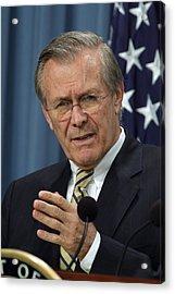 Donald H. Rumsfeld Secretary Of Defense Acrylic Print by Everett