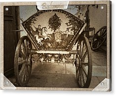Donkey Cart Acrylic Print by Cliff Norton