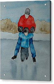 Don't Let Go Dad Acrylic Print by Twyla Wehnes