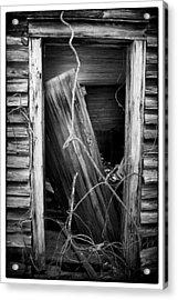 Door Bw Acrylic Print by Mark Wagoner