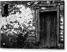 Door  Window And The Wall  Acrylic Print