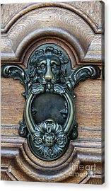 Doorknocker Lionshead Acrylic Print by Christiane Schulze Art And Photography
