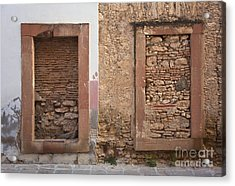 Acrylic Print featuring the photograph Doors - Mineral De Pozos Mexico by Craig Lovell