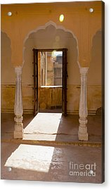 Doorway And Arch In The Amber Fort Acrylic Print by Inti St. Clair