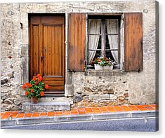 Acrylic Print featuring the photograph Doorway And Window In Provence France by Dave Mills