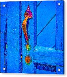 Doorway To Santa Fe Acrylic Print by Ken Stanback